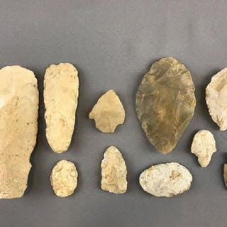 Group of Native American Arrowheads and more