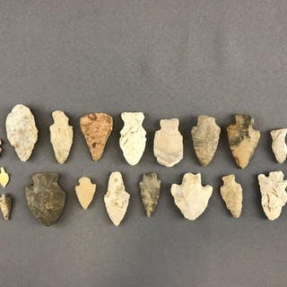 Group of 22 Native American Arrowheads
