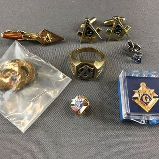 Group of Masonic/Knights of Columbus Jewelry