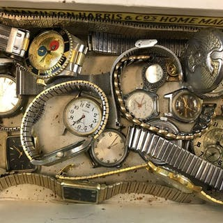 Group of watches and parts