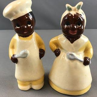 Black Americana Salt and Pepper shakers