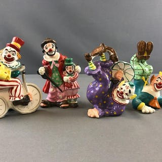 Group of 4 Yona Original clown figures