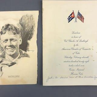 Charles A Lindbergh Luncheon Program/Menu