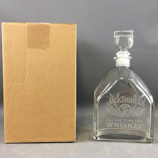 Jack Daniels Clear Glass Decanter with box