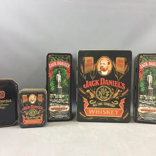 Group of 5 Jack Daniels Collector Tins