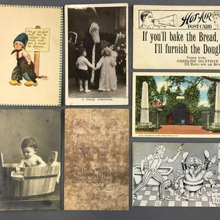 Group of Postcards, Various Types and styles