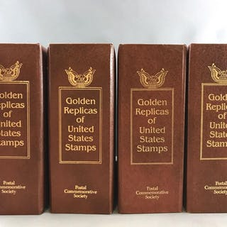 Golden Replicas of United States Stamps