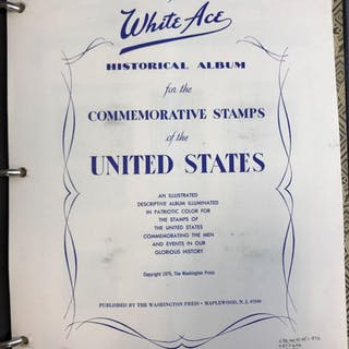 White Ace Commemorative Stamps of the United States album