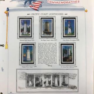 Binder of United States Commemorative Stamps