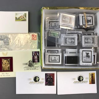 Group of Stamp collecting items