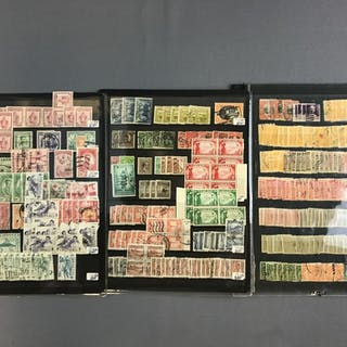 Group of 6 stock pages mint and used US territories stamps
