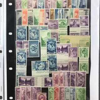Group of 4 stocksheets 1930s-70s mint issues