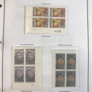 Binder of 2000-2011 commemorative and regular issue plate blocks