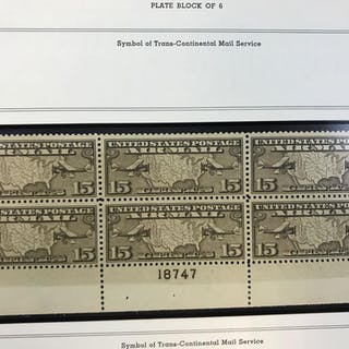 Minkus album of air mail plate blocks 1926-1980s