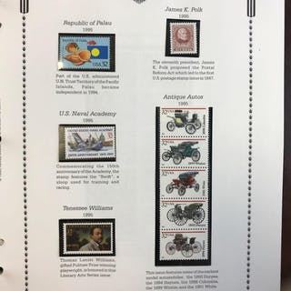 Album of 1995-97 commemorative and regular issue singles, blocks, and sheetlets