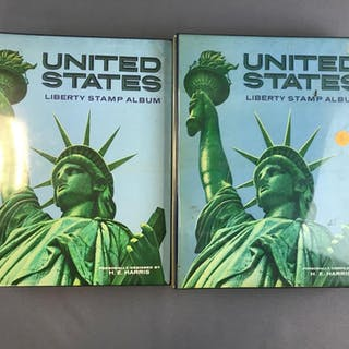 Group of 2 Liberty Stamo albums