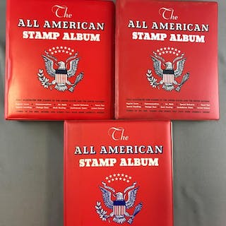 Group of 3 all American stamp albums