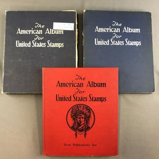 Group of 3 American Album for United States Stamps