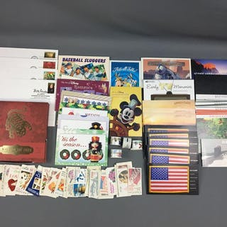 Group of Stamps, Postcards, First Day Issues and more
