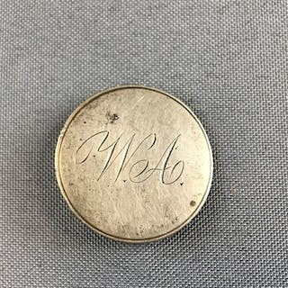 1809 Capped Bust Half Dollar Engraved coin pin
