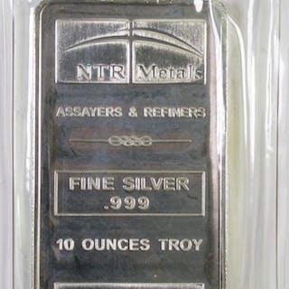 NTR Metal .999 Fine Silver 10oz. Ingot.