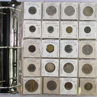 Large Album Full of Hundreds of Foreign Coins some Silver.