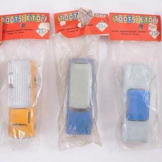 Group of 5 Tootsie Toy Die-Cast Vehicles in Original Packaging