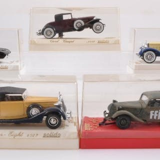 Group of 5 Solido Die-Cast Vehicles with Original Boxes