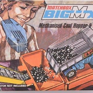Matchbox Big MX Mechanized Coal Hopper & Topper Truck in Original Box