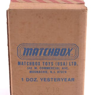 Partially Full Shipping Box of Matchbox Models of Yesteryear Die-Cast Cars
