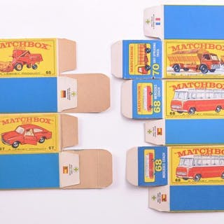 """Group of 5 Matchbox """"E"""" Type Boxes"""