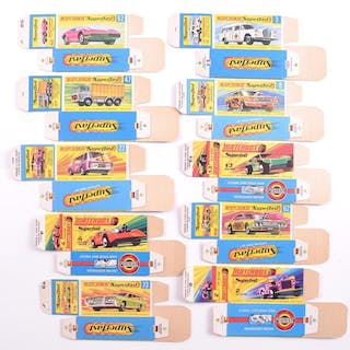 """Group of 10 Matchbox Superfast """"G and H"""" Type Boxes"""