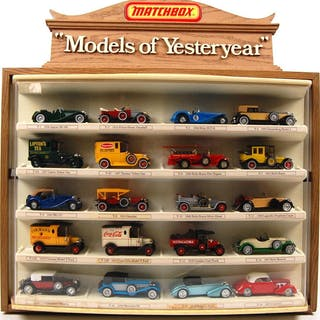 Matchbox Models of Yesteryear Complete Advertising Store Display Case