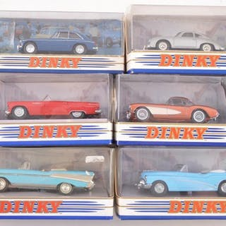 Group of 6 Matchbox The Dinky Collection Die-Cast Vehicles in Original Boxes