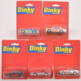 Group of 5 Dinky Toys Die-Cast Cars in Original Packaging