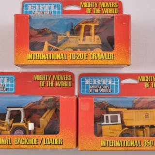 Group of 3 ERTL Die-Cast Mighty Movers of the World in Original Boxes