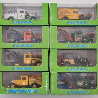 French Issue Group of 10 Eligor Die-Cast Advertising Vehicles in Original Boxes