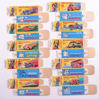 "Group of 10 Matchbox Superfast ""I"" Type Boxes"