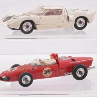 Group of 4 Dinky Toys Die-Cast Sports Cars