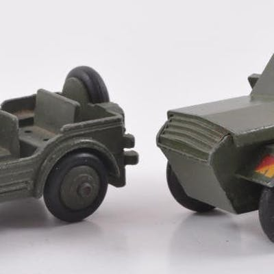 Group of 2 Dinky Toys Die-Cast Military Vehicles