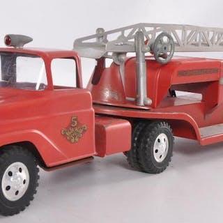 Tonka Toys Pressed Steel No. 5 Hydraulic Fire Truck