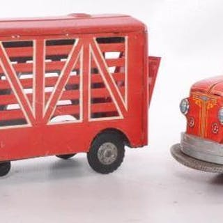 Group of 2 Japanese Tin Litho Trucks