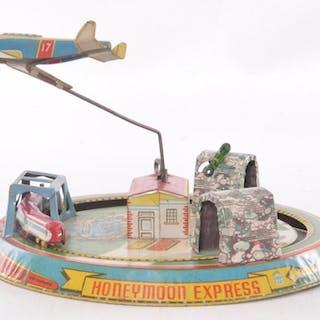 Marx Tin Litho Honeymoon Express Wind Up Toy