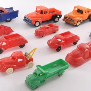 Group of 12 Plastic Toy Cars