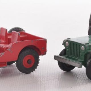 Group of 2 Dinky Toys Die-Cast Jeeps