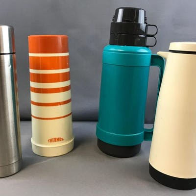 Group of 3 Vintage Thermos and other bottles