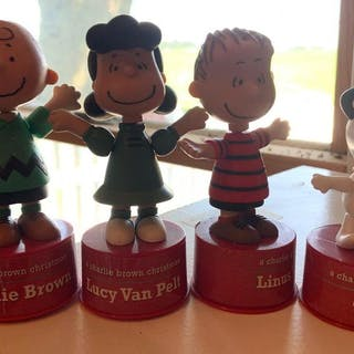 Group of 4 forever fun peanuts figurines