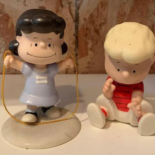 Group of two Lenox peanuts porcelain figurines