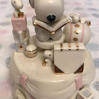 Peanuts Lenox Baby Snoopy Keepsake and Music Box