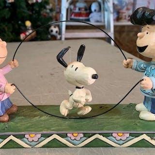 Peanuts Jim Shore double Dutch dog figurine